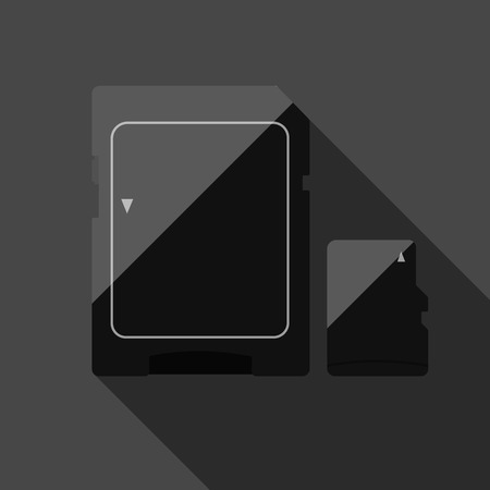 ms: Memory Cards in two colors. Vector.  Eps10