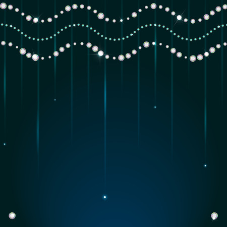 strass: Diamanten funkelnden Perlen, Strasssteinen - eps10 Hintergrund Illustration