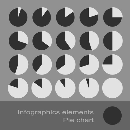 Circle Diagram Pie Charts Infographic Elements. Eps10