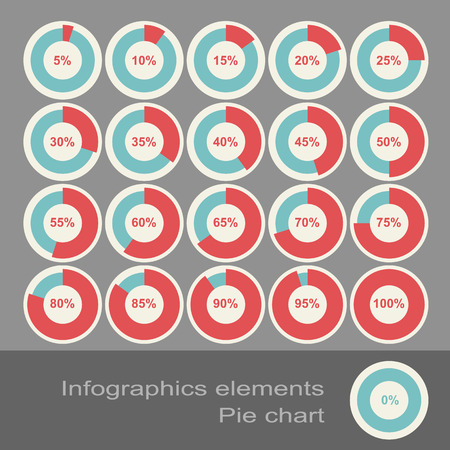 Circle Diagram Pie Charts Infographic Elements. Eps10