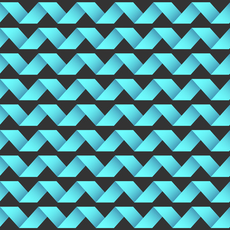 Vector seamless striped waving pattern. in Eps10 Vector