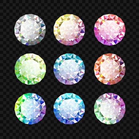 Set of colored gems. Jewel set. Diamond. Eps10 Vector