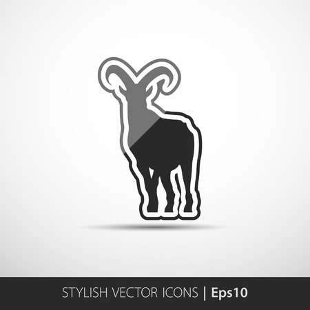 Stylish vector image of an goat on white background Vector