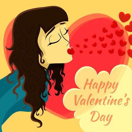 romantic date: Romantic date. Valentines Day Card. Vector illustration. Illustration