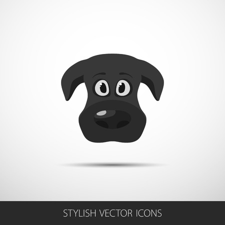 dog face icon in flat style. Vector. Vector