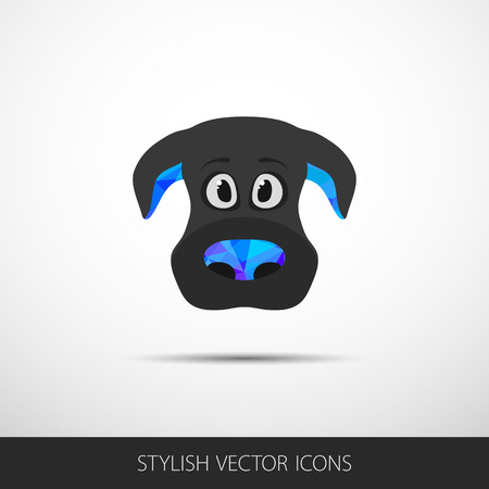 dog face icon in flat style. Vector. Eps10 Vector