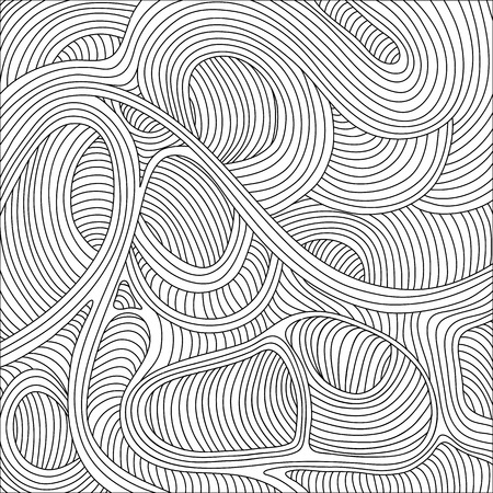 resembling: The intricate background of lines resembling threads Illustration