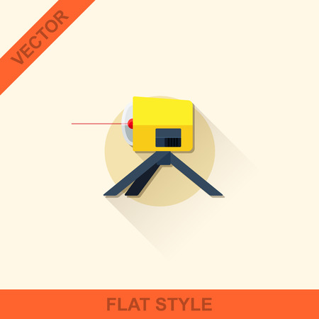 leveling: Vector leveling in a flat style with shadow.