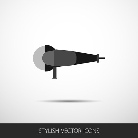 grinder: Vector grinder in a flat style with shadow.