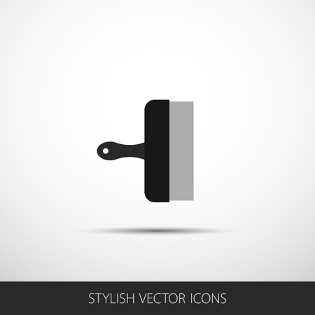 heatproof: Vector spatula in a flat style with shadow.