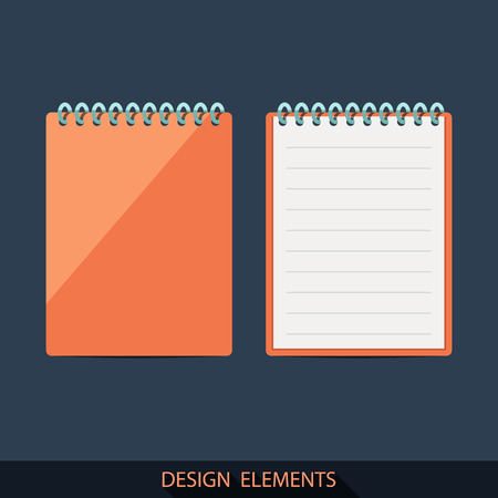 moleskin: A set of pads in a flat style.  Illustration