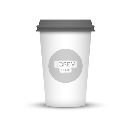 represent: Blank coffee cup to represent your template desing.  Illustration