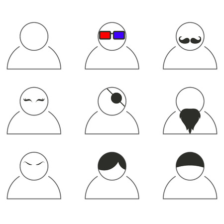 aplication: Mobile aplication People icons in vector.