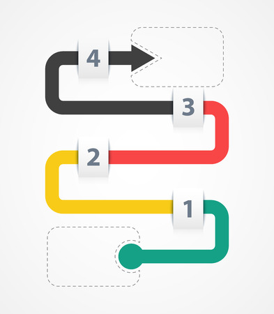 four corners: infographic four options in corners. infographic concept.