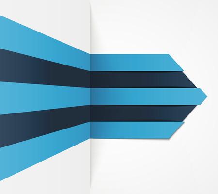 Minimal blue infographics. arrow.  Illustration
