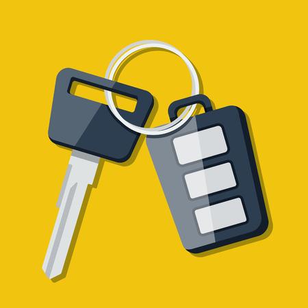 remote lock: Vector la llave del coche y el encanto del sistema de alarma. Vector