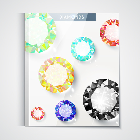 catalog: Design of the catalog cover with large diamonds