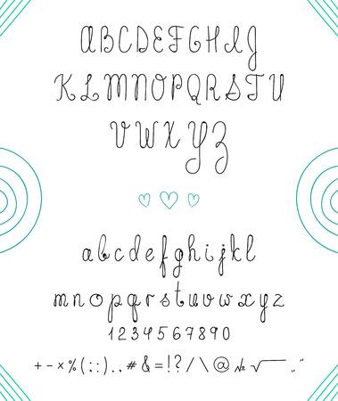 Souvent Main Vecteur Tracé Alphabet, Police, Lettres Isolées écrites Avec  UQ61