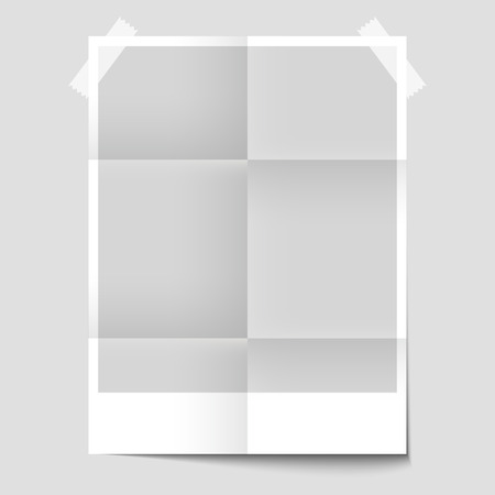 blank poster: Isolated blank poster for the presentation of the design
