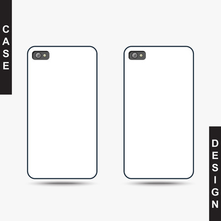white clean template cover phone blank template case phone