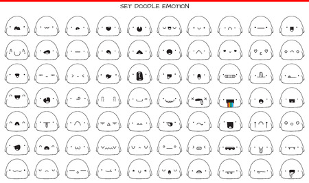 handdraw: Set of 70 cute sketch characters with doodle emotions. Sketch emotions. Doodle emotion. Doodle characters. Cute monsters. Emotions handmade. Character handdraw. Emotions for design. Drawn icons