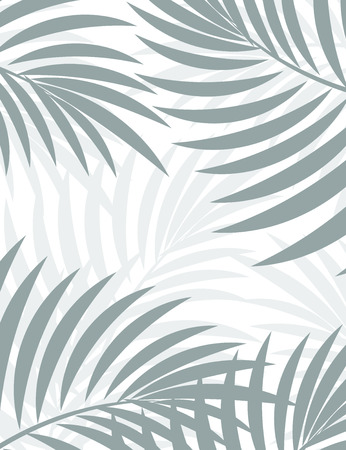 on palm tree: Exotic background with palm leaves for design in hipster style. The leaves in the background. Leaves of palm tree. Silhouette of palm leaves. Hipster background. Background for advertising Illustration
