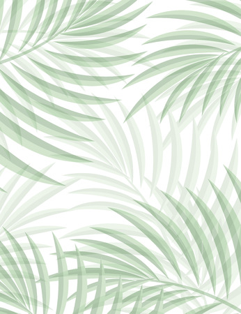 Exotic background with palm leaves for design in hipster style. The leaves in the background. Leaves of palm tree. Silhouette of palm leaves. Hipster background. Background for advertising Illustration