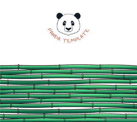sample environment: Template with a bamboo. Japanese background. Bamboo and panda. Background with a bamboo. Bamboo for design and presentations. Bamboo stalks. Bamboo branches
