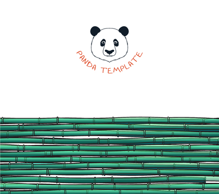 bamboo: Template with a bamboo. Japanese background. Bamboo and panda. Background with a bamboo. Bamboo for design and presentations. Bamboo stalks. Bamboo branches