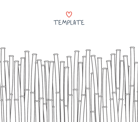 bamboo: Template with a bamboo. Japanese background. A background with a bamboo. A bamboo for design and presentations. Bamboo stalks. Bamboo branches Illustration