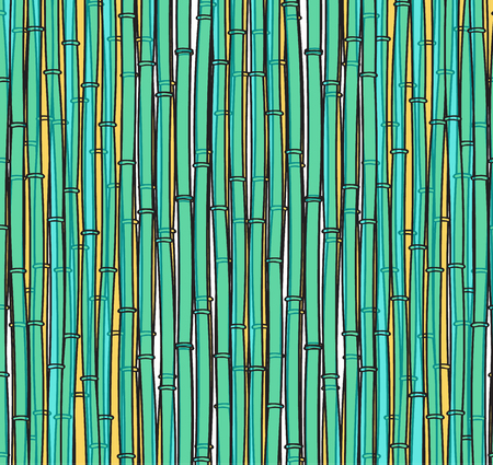 stalks: Background with a bamboo. Bamboo branches. A bamboo for design. Bamboo stalks Illustration