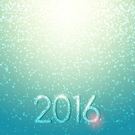 lichteffekte: New Years color shining background with a Christmas inscription. 2016 year. A background for cards. Blured background. Lighting effects. Bright Christmas background. Festive background Illustration