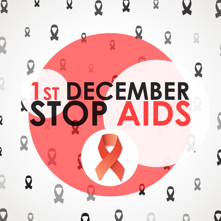 fight disease: World Aids Day. Stop Aids. 1th december. Design of the brochure against AIDS. World day of fight against AIDS. Design of the poster, brochure, card, leaflet. Treatment of AIDS. Medicine Illustration