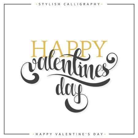 Frohen Valentinstag. Gold Phrase Handgefertigt. Stilvolle, Moderne  Kalligraphie. Elite Kalligraphie. Zitat