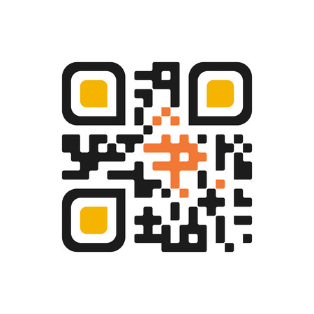 quick response code: Qr code isolated design sample . Modern technologies. Instantaneous transmission information . Isolated qr code create design with presentation space for future qr code information . Blank qr code .