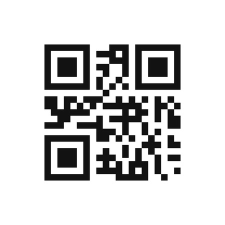 qrcode: Qr code isolated design sample . Modern technologies. Instantaneous transmission information . Isolated qr code create design with presentation space for future qr code information . Blank qr code .