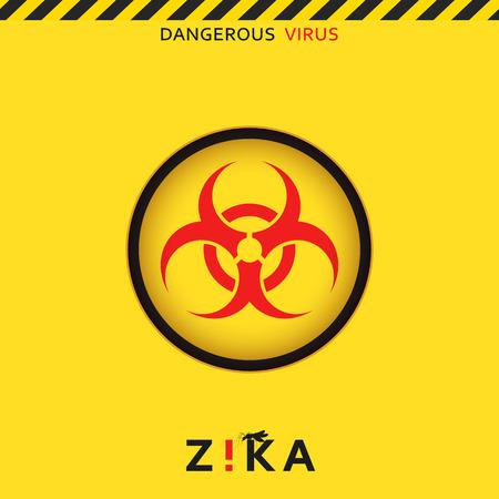 peligro: Pare zika. virus peligroso. amenaza de virus precauci�n. Los mosquitos infectados con microcefalia. Los mosquitos son portadores de enfermedades peligrosas. Virus peligroso para las mujeres embarazadas, Ilustraci�n de advertencia de peligro
