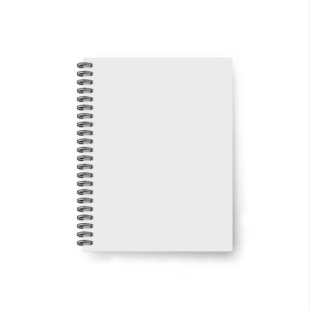 Notebook realistico. notebook modello. disegno di copertina in bianco. Mock up notebook. Notebook realistico. Cover Design. design dei notebook. design dei notebook. quaderno di scuola. Diario di affari Archivio Fotografico - 52987399