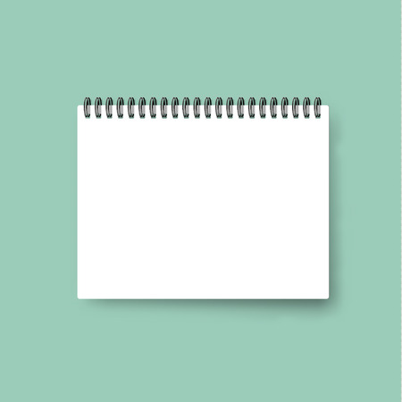 Realistic Notebook . Calendar Template . Blank Cover Design ...