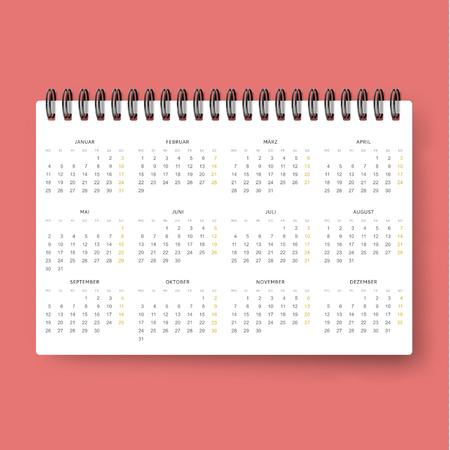 datebook: Realistic calendar. Calendar template in Dutch 2016 . Ready calendar. Mock up calendar. Calendar realistic. Design of the calendar . datebook design. Calendar for 2016. The daily print business .