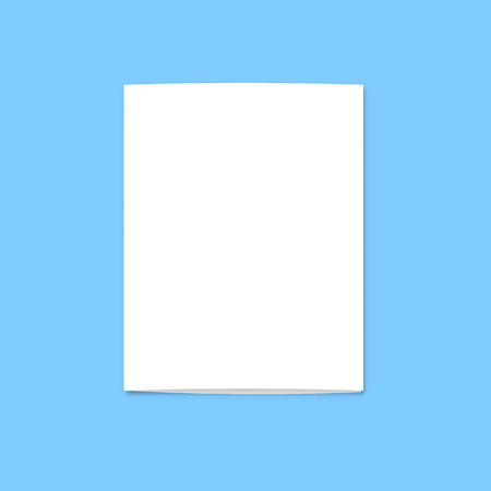unfolded: Realistic blank card for design . Template greeting card for design presentations . Holiday card . Isolated card .