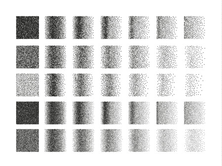 engraving: Set of 35 square stipple pattern for design . Spot engraving to create brushes . Engraving for retro backgrounds . Engraving for shade . Highly detailed set of tile engraving for design