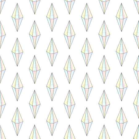 diamond stones: Fashion hipster seamless pattern with diamonds. Rhinestones design tiles. Precious stones on white background. Diamond in color holograms. Seamless crystals. Natural jewelry