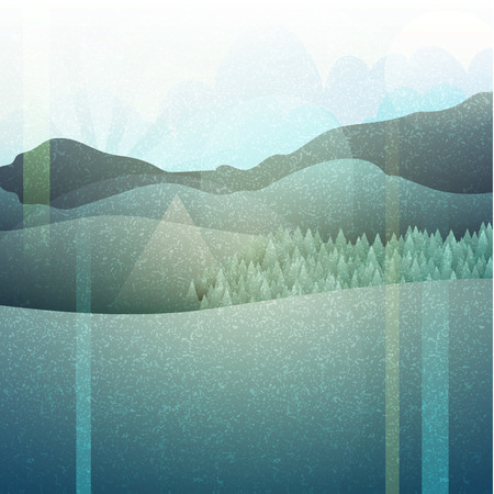 plains: Abstract retro landscape with texture. Mountain plains. Camping in retro style.  Nature in an ancient engraving. Retro poster. Mountain landscape. Landscape.