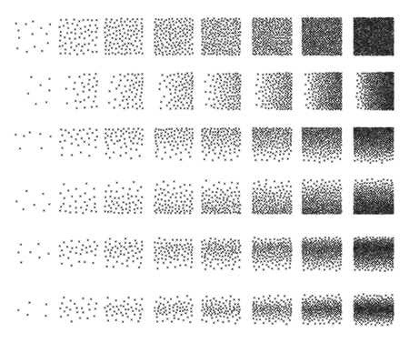 48: Set of 48 cross Stipple pattern for design . Spot engraving to create brushes . Engraving for retro backgrounds . Engraving for shade . Very detailed set of tile engraving for design