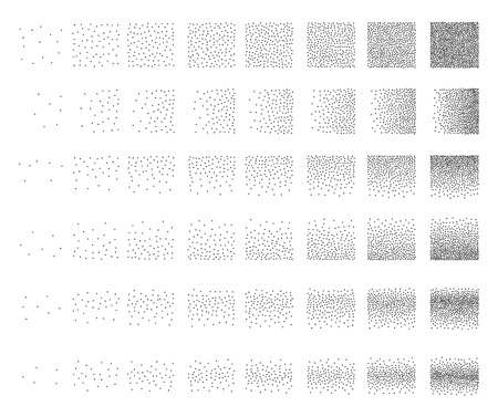 48: Set of 48 triangle Stipple pattern for design . Spot engraving to create brushes . Engraving for retro backgrounds . Engraving for shade . Very detailed set of tile engraving for design
