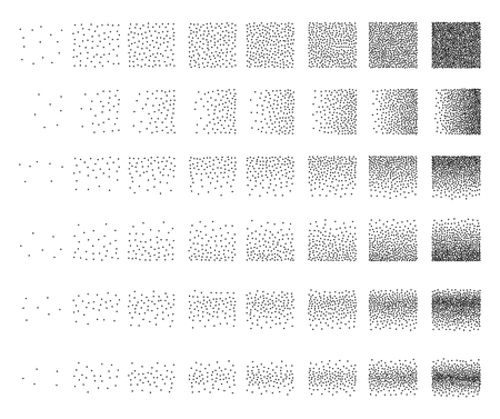48: Set of 48 star Stipple pattern for design . Spot engraving to create brushes . Engraving for retro backgrounds . Engraving for shade . Very detailed set of tile engraving for design