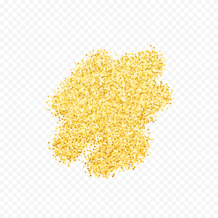placer: Gold placer . Gold glitters . Metal gold. Gold Dust . Gold isolation. Golden sand. Handful of gold . Yellow gold,