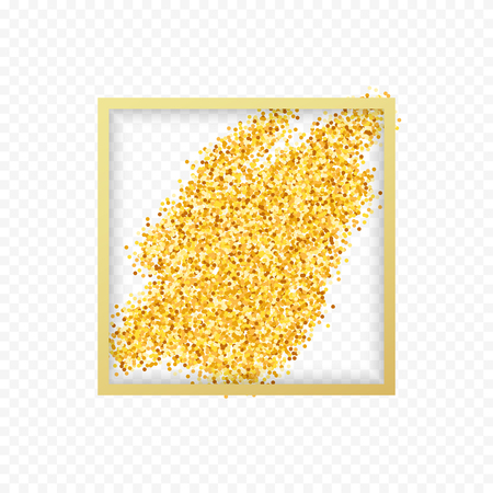 placer: Gold placer . Gold in the frame. Gold glitters . Metal gold. Gold Dust . Gold isolation. Golden sand. Handful of gold . Yellow gold,