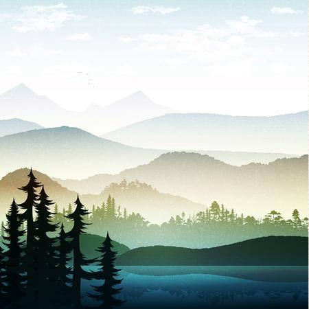 paisaje de verano de la naturaleza. La naturaleza y el paisaje. bosque de la montaña del paisaje y el lago. Publicidad fondo de viajes y camping. Los bosques de montaña y ríos. Parque Nacional. juego de fondo.